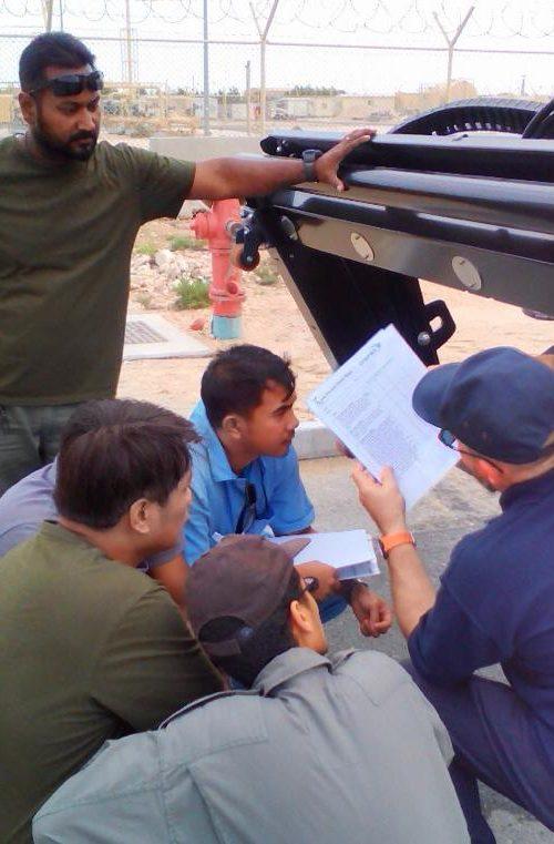 Osprey rubber removal training in Qatar